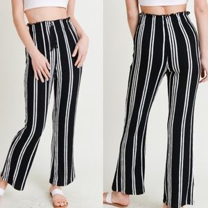 fc3fc2d8a NWT Black and White Stripe Ankle Pants. Boutique